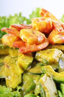 Vegetable Salad, Vegetable Shrimp Salad