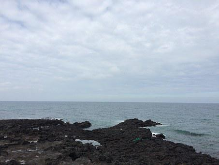 Jeju Island, Sea, Beach, Jeju Island Sea Photo, Waves