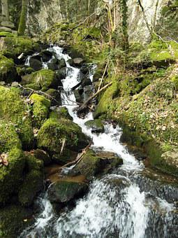 Waterfall, Wieladingen, Murg Valley, Black Forest