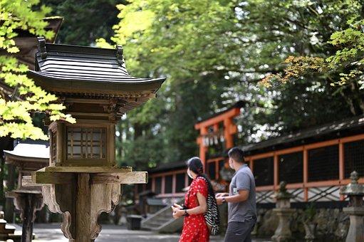 Koyasan, Temple, Lantern, Japan, Monastery, Historic