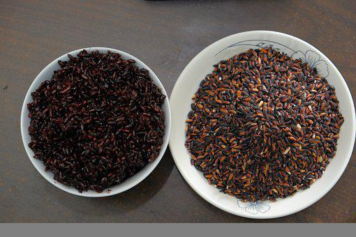 Brown Rice, Rice, Crop, Harvest, Food, Bowl