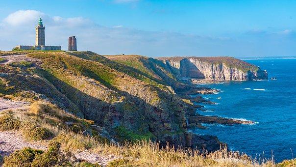 Coast, Lighthouse, Sea, Cap Fréhel, Brittany, France