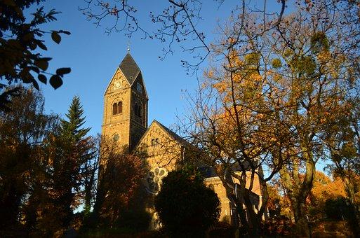 Church, Autumn, Season, Historical, Landmark, Outdoors