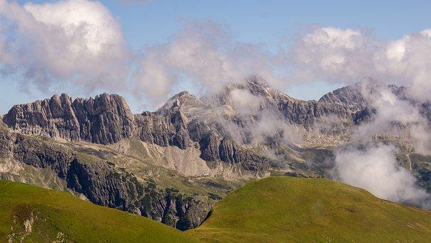 Mountain Range, Landscape, Austria, Mountains, Summit