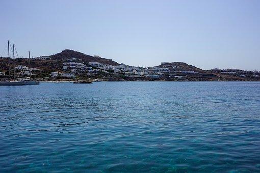 Mykonos, Greece, Island, Sea, Ocean, Landscape, Nature