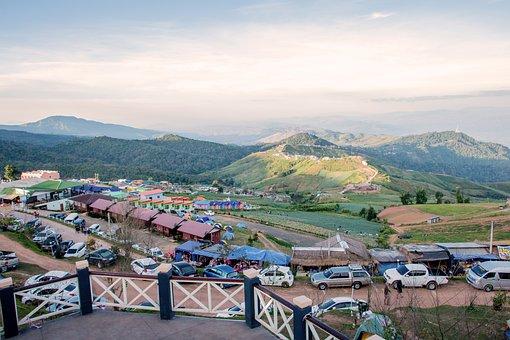 Mountain, Parking Lot, Nature, Sunset, Sunrise, Travel
