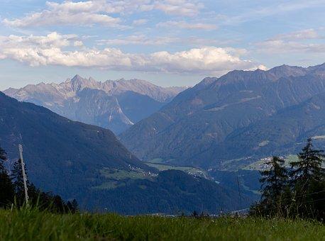 Mountains, Village, Imst, Valley, Gurgltal, Tyrol