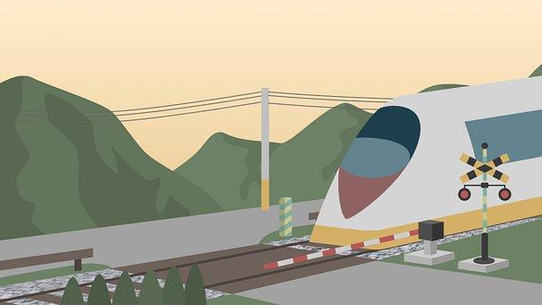 Train, Countryside, Mountains, Travel, Trip, Village