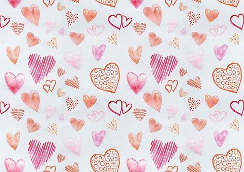 Hearts, Love, Feelings, Watercolor, Drawing, Tenderness