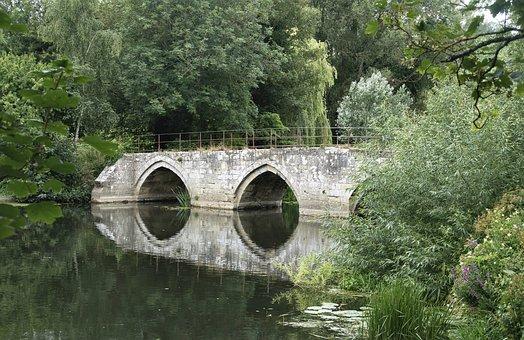 River, Bridge, Nature, Arches, Historical, Architecture