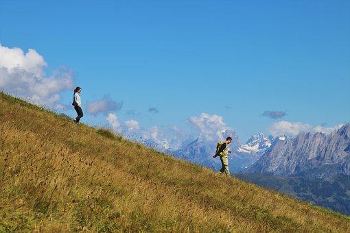 Trekking, The Wanderer, Mountains, Adventure, Steep