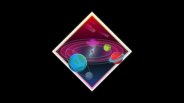 Space, Planets, Wallpaper, Solar System, Cartoon