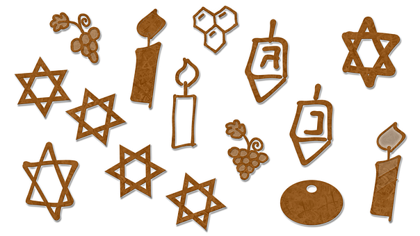 Candles, Star Of David, Honeycomb, Hexagon, Grapes