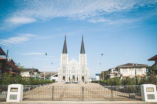 Chanthaburi, Church, Thailand, Religion, Asia, Cross