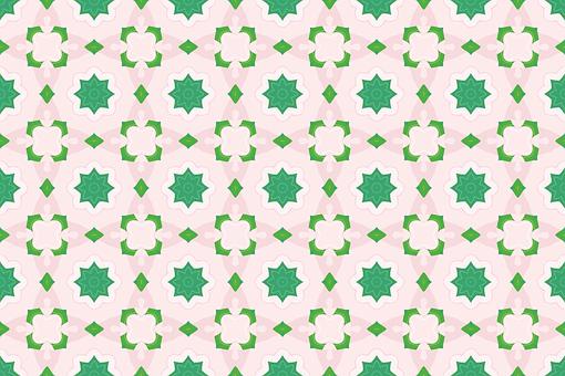 Flower, Wall, Pattern, Retro, Vintage