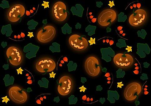 Pumpkin, Background, Halloween, Dark, Pattern, Texture