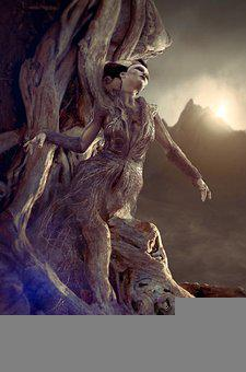 Book Cover, Surreal, Fantasy, Tree, Root, Woman, Female
