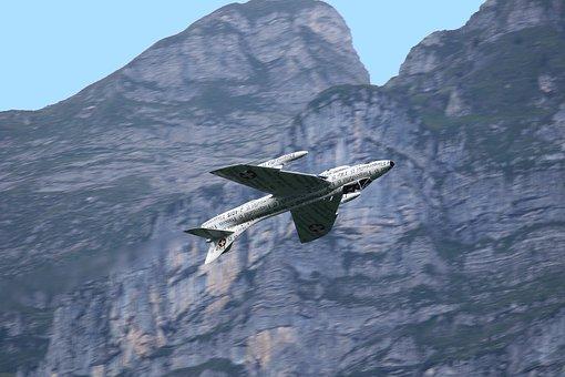 Hawker Hunter, Fighter Plane, Warbird, Fighter Jet