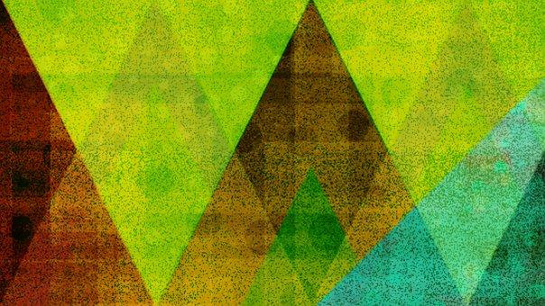 Triangles, Futuristic, Glow, Glowing, Neon, Green