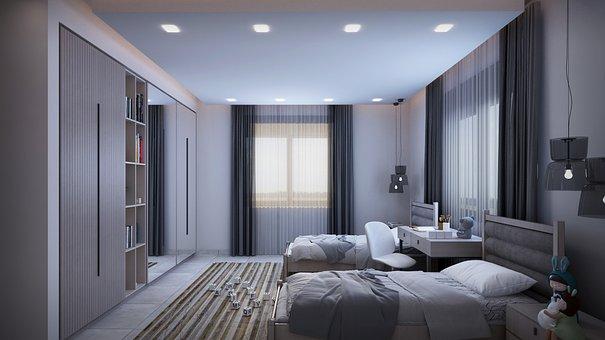 Bedroom, Interior Design, Apartment, Indoors, Bed