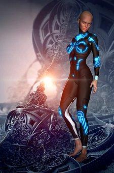 Woman, Model, Sci Fi, Futuristic, Structure, Future