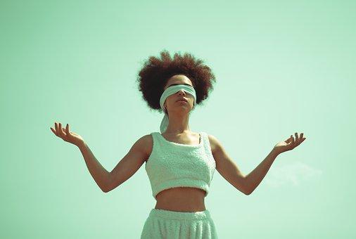 Woman, Model, Portrait, Pose, Style, Blindfolded