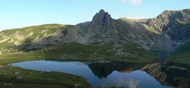 Lake, Mountain, Peak, Reflection, Nature