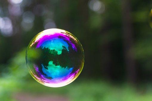 Soap Bubble, Bubble, Reflection, Floating, Colorful