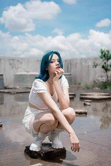 Woman, Model, Portrait, Pose, Style, Fashion, Posing