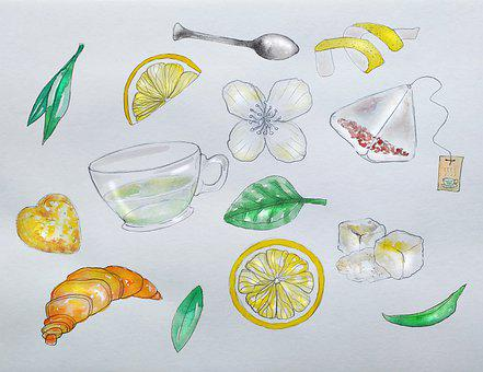 Tea, Snack, Wallpaper, Tea Drinking, Tea Bag, Lemon