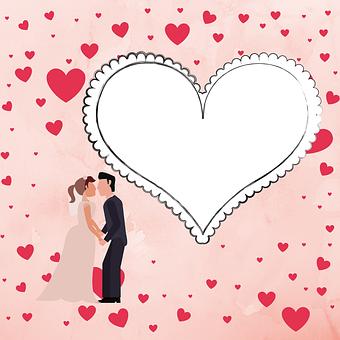 Card, Wedding, Heart, Frame, Love, Decorative, Couple
