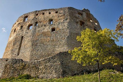 Topolcany Castle, Ruin, Slovakia, Historic Site