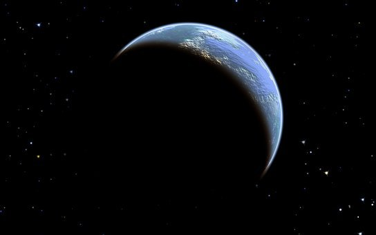 Planet, Earth, Outer Space, Universe, Cosmos, Stars