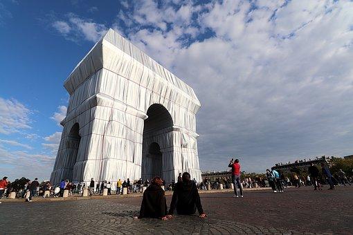Triumphal Arch, Arc De Triomphe, Paris, France