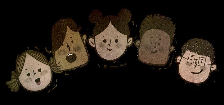 Children, Faces, Diverse, Friends, Young, Kids, Boys
