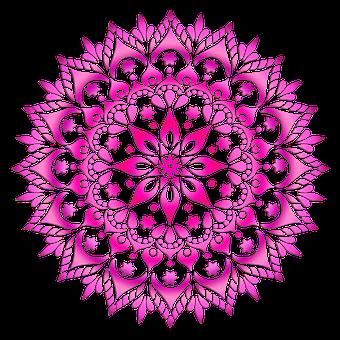 Mandala, Pattern, Pink, Flower, Decorative, Design