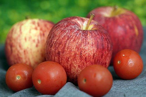 Apples, Tomatoes, Fruits, Food, Fresh, Healthy, Ripe