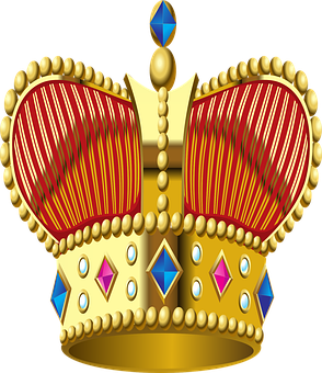 Crown, King, Royalty, Material, Jewelry, Cutout