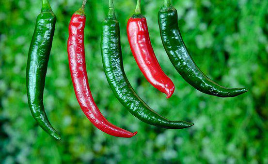 Chili, Spices, Vegetable, Food, Green Chili, Red Chili