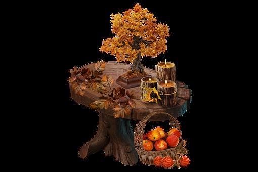Nature, Autumn, Season, Apples, Fruit, Cutout, Table