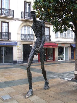 Vitoria, Spain, Statue, Sculpture, Artistic, Man