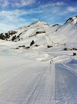 Snow, Ski, Lane, Mountain, Alps, Kitzbuhel, Austria