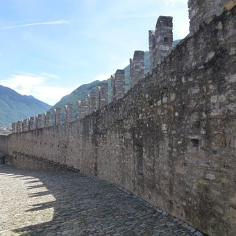 Battlements, Castelgrande, Bellinzona, Middle Ages
