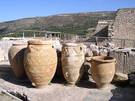 Amphora, Knossos, Crete, Greece, Holiday, Antiquity