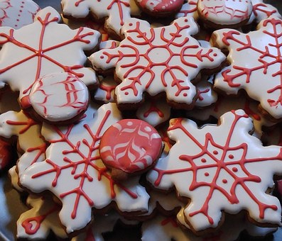 Christmas, Snowflake, Cookie, Decoration