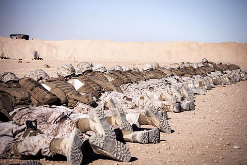 Afghanistan, Marines, Military, Defensive Position, Sky
