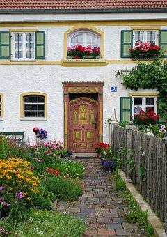 Berg, Jesenwang, Door, House, Entrance, Front, Garden