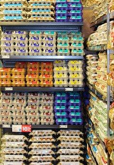 Egg, Egg Board, Egg Shelf, Colorful, Neat, Stacked