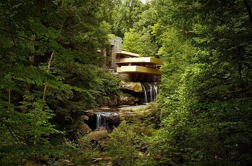 Fallingwater, Pennsylvania, Architecture, Home