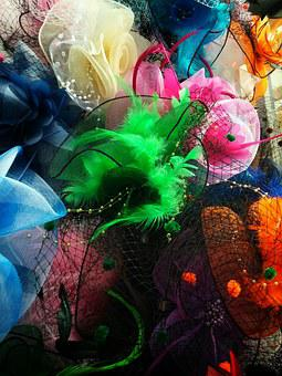 Fascinator, Accessory, Hair, Feathers, Racing, Horses
